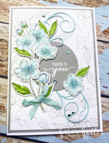 Stampin Blends How to with Forever Blossoms.