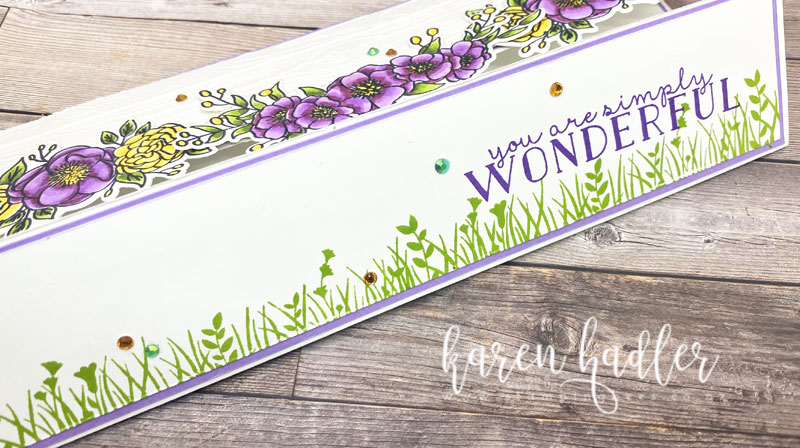 Creating a border with Field of flowers and You are simply wonderful