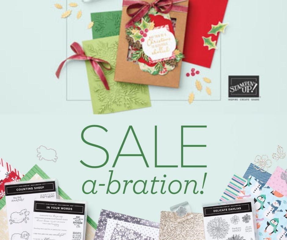 An image of the front of the Mini Catalogue and Sale-A-Bration Catalogue.