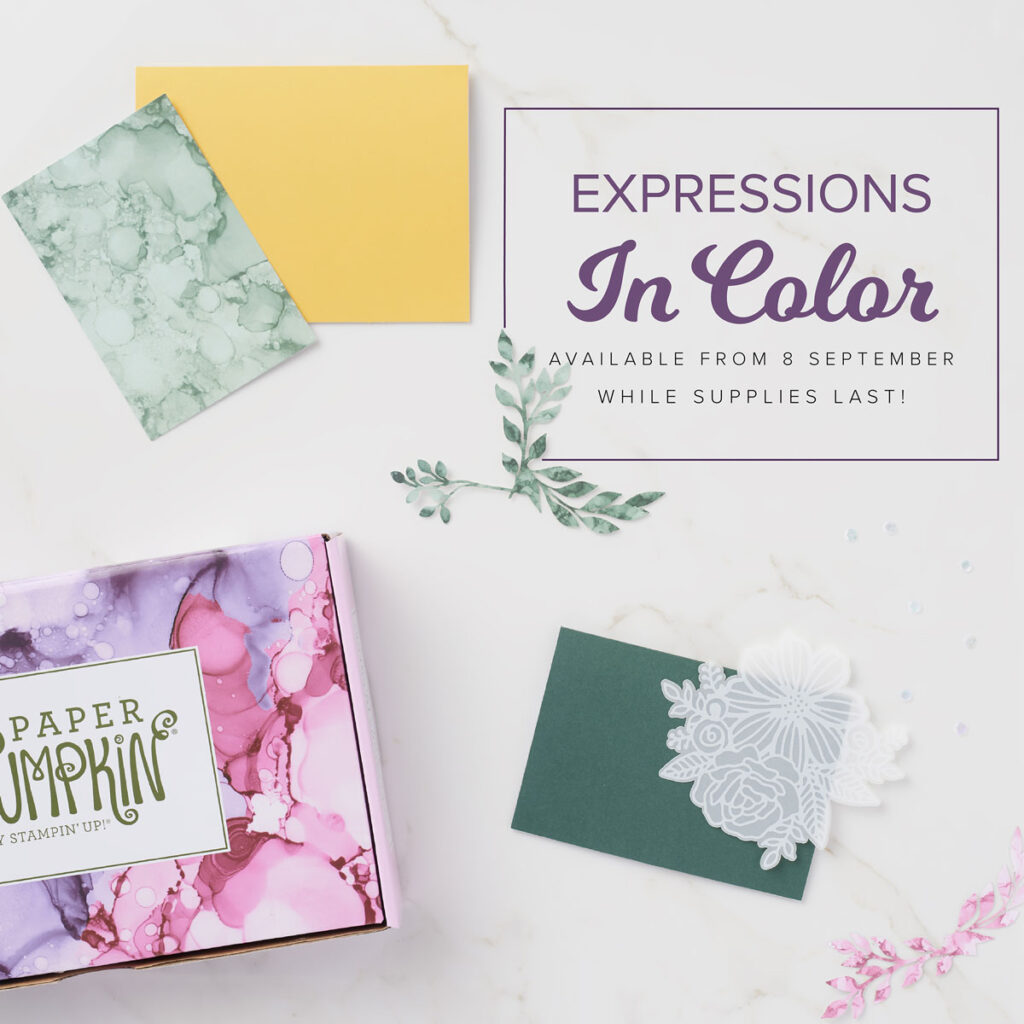 Photo showing Expressions in colour box and card.